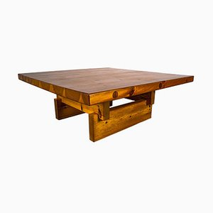 Solid Pine Coffee Table by Roland Wilhelmsson for Karl Andersson & Söner Ab, Sweden, 1970s