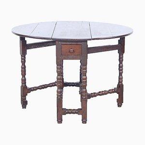 Englischer Tisch mit Schublade & gedrehten Beinen, spätes 19. Jh
