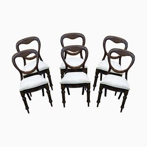 Victorian Chairs in Mahogany, 1800s, Set of 6