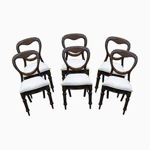 Viktorianische Stühle aus Mahagoni, 1800er, 6er Set