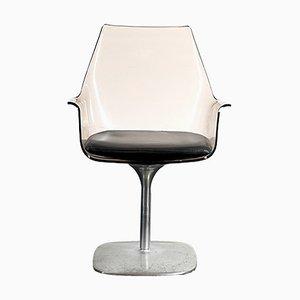 Silla Champagne vintage de plexiglás, años 70