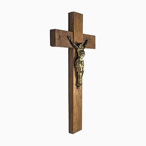 Wooden Cross with Jesus Christ