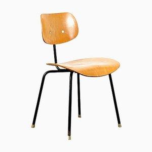 Chaise d'Appoint SE68 Mid-Century avec Base Noire par Egon Eiermann pour Wilde+Spieth