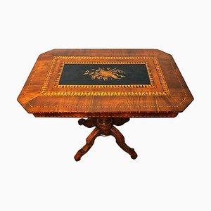 Sorrentino Table in Walnut and Ebony, 19th Century