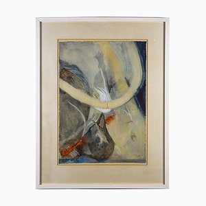 Obra de arte sobre papel al estilo de W. Thesen