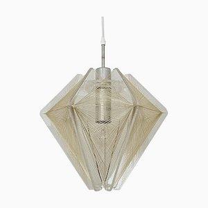 French Nylon Thread Pendant Lamp, 1960s