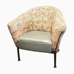 Club chair postmoderna vintage di Jack Crebolder per Himolla, anni '80