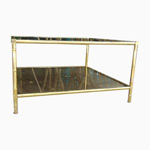 Brass Coffee Table by Maison Charles