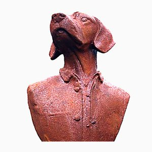 Dog Sculpture in Cast Iron, 1970s