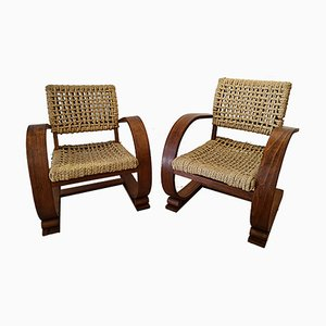 Rope Armchairs by Adrien Audoux and Frida Minet, Set of 2