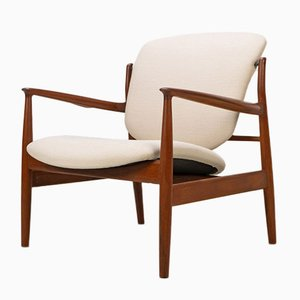 Modell 136 Armlehnstuhl aus Teak von Finn Juhl für France & Søn, 1960er