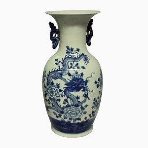 Vases Bleus et Blancs, Chine, 1950s, Set de 2