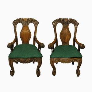 Chinesische Sessel, 1800er, 2er Set