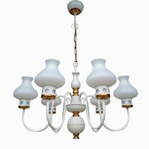 Lustre et Lampe de Bureau Vintage, 1970s, Set de 2