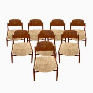 Teak Stühle von Hartmut Lohmeyer für Wilkhahn, 8er Set