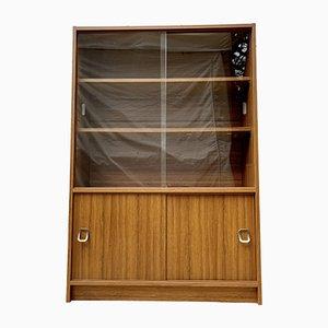 Vintage Glas Schrank oder Bücherregal