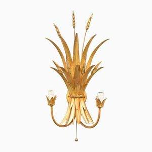 Goldene Wandlampe aus Metall von Hans Kögl