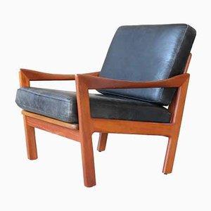 Vintage Leather Easy Chair by Illum Wikkelsø for Niels Eilersen, 1960s