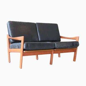 Canapé Vintage en Cuir par Illum Wikkelsø pour Niels Eilersen, 1960s