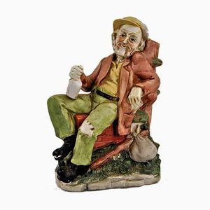 Vintage Keramik The Müde Old Man Statuette