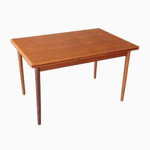 Vintage Danish Teak Extendable Dining Table, 1960s