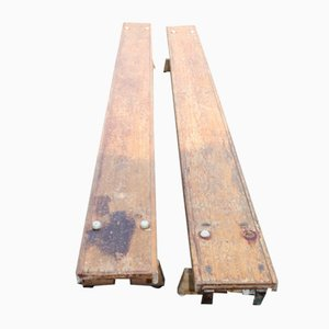 Country Pine Gymnastic Benches, 1960s, Set of 2