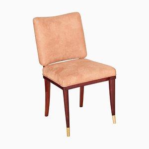 Beiger französischer Art Deco Stuhl von Jules Leleu, 1920er