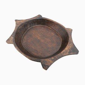 Antique 19th Century French Treen Birch Platter Bowl