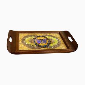 Art Deco Tablett aus Holz