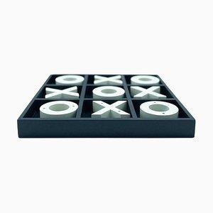 Wooden Tic Tac Toe Set, Italy, 1970s