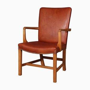 Nørrevold Sessel aus Eiche und Leder von Kaare Klint für Rud. Rasmussen