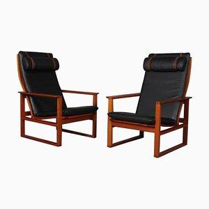 2254 Mahagoni Sled Chair von Børge Mogensen für Fredericia, Dänemark, 1956
