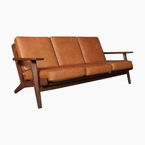 Modell 290 3-Sitzer Sofa mit Gestell aus geräucherter Eiche von Hans J. Wegner für Getama