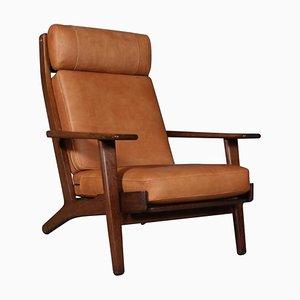 Model 290A Smoked Oak Lounge Chair by Hans J. Wegner for Getama