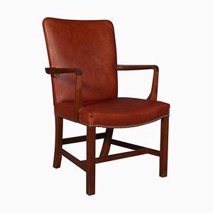Nørrevold Armlehnstuhl aus Mahagoni und Leder von Kaare Klint für Rud. Rasmussen