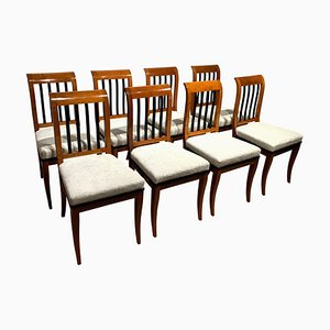 Neoclassical Biedermeier Chairs in Walnut, South Germany, 1825, Set of 8