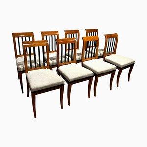 Neoklassizistische Biedermeier Stühle aus Nussholz, Süddeutschland, 1825, 8er Set