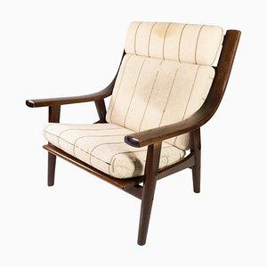 Modell GE530 Sessel aus dunkler Eiche von Hans J. Wegner, 1960er
