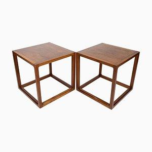 Tables d'Appoint en Teck par Johannes Andersen pour CFC Silkeborg, 1960s, Set de 2