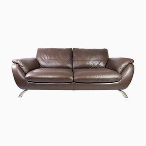 Großes Zwei-Sitzer Sofa aus Braunem Leder von Italsofa