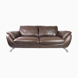 Large Two Seater Sofa in Brown Leather from Italsofa