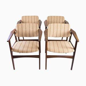 Danish Teak Dining Room Chairs, 1960s, Set of 4