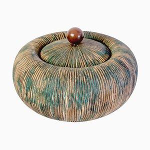 Mid-Century Schale mit Deckel von Ceramiche Batignani, Italien