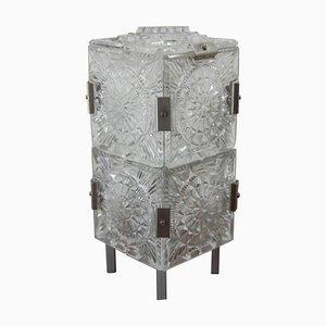 Mid-Century Glass Table Lamp by Kamenicky Senov, 1970s