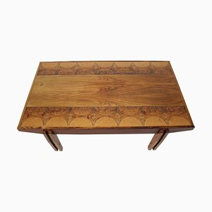 Palisander Wood and Tile Coffee Table, Denmark, 1960s