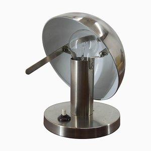 Lampe de Table ou de Chevet en Plaqué Nickel, 1920s
