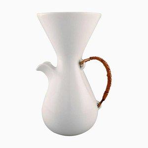 Großer moderner Krug aus weiß glasierter Keramik von Kenji Fujita für Freeman Lederman