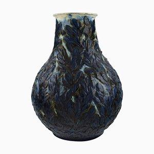 Vaso in gres smaltato di Svend Hammershøi per Kähler, Danimarca