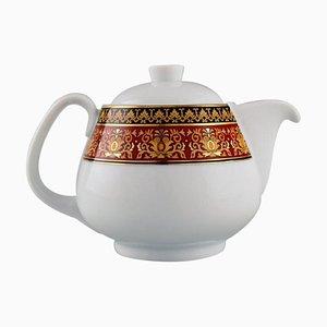Medusa Teekanne aus Porzellan mit goldenem Dekor von Gianni Versace für Rosenthal