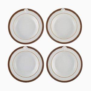 Medallic Meandre D'or Teller von Gianni Versace für Rosenthal, 4er Set